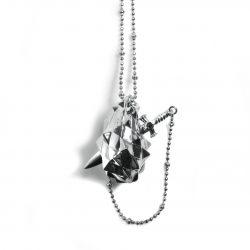 Silver vampire heart