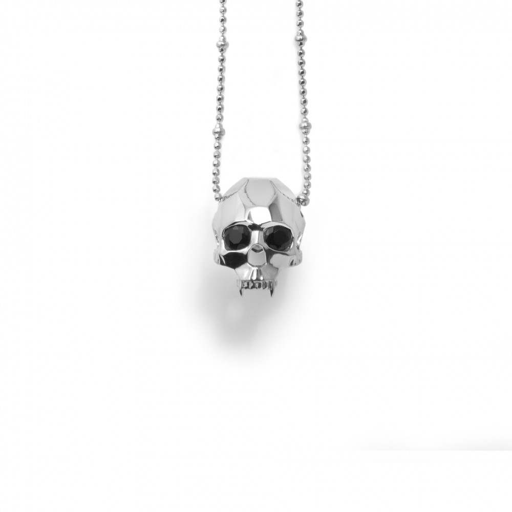 skull shop necklaces black esqueleto pendant