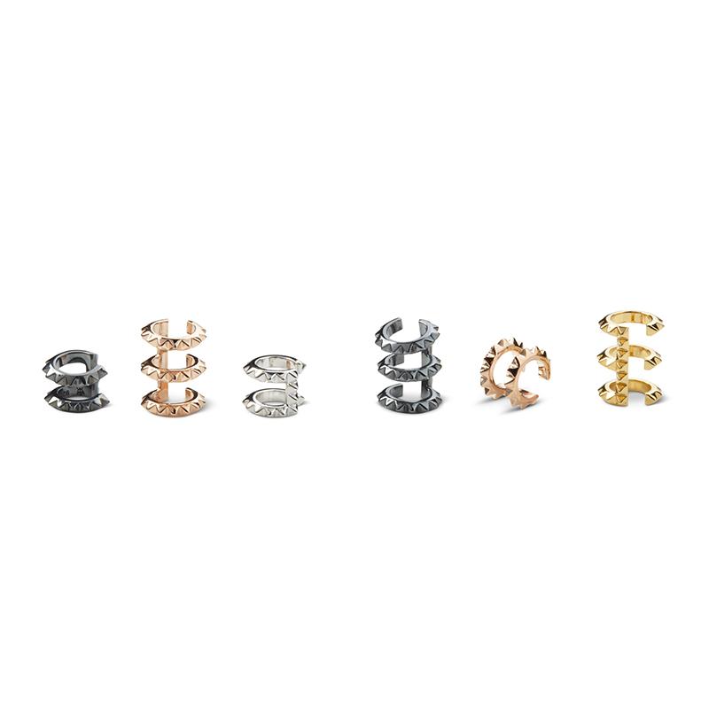 Croc Double Ear Cuff - Rose Gold - Kasun London