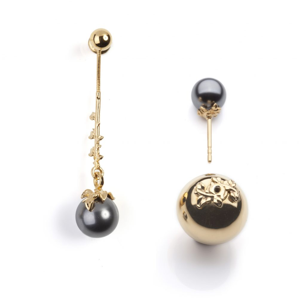 Pearl Mix and Match Gold Earrings - Kasun London